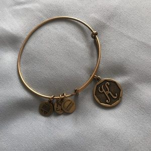 Alex and Ani K Initial Bracelet